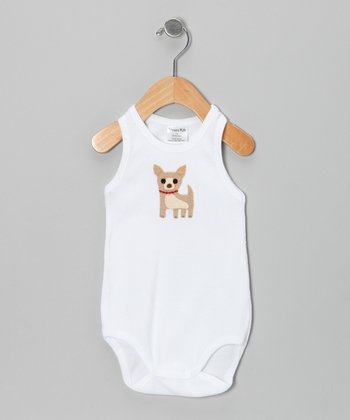 White Dog Tank Bodysuit - Infant