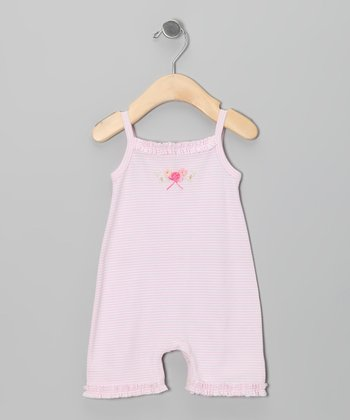 Light Pink Stripe Romper - Infant