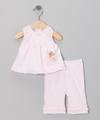 Light Pink Swing Top & Capri Pants - Infant, Toddler & Girls