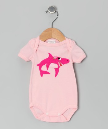 Pink Shark Bodysuit - Infant