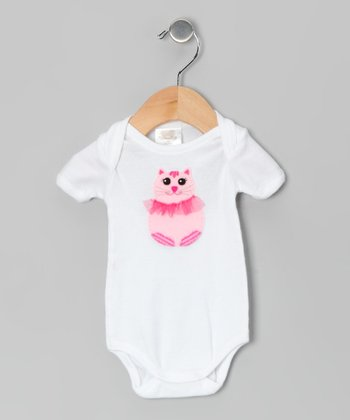 White Cat Bodysuit - Infant