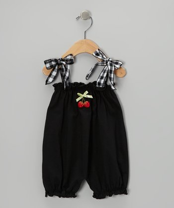 Black Cherry Bubble Romper - Infant