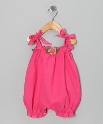 Fuchsia Rosette Bubble Romper - Infant