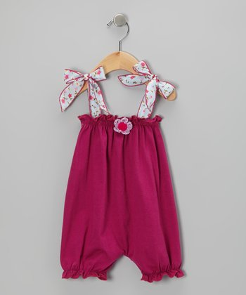 Fuchsia Flower Bubble Romper - Infant