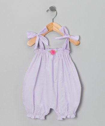 Lilac Flower Bubble Romper - Infant