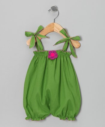 Lime Bubble Romper - Infant