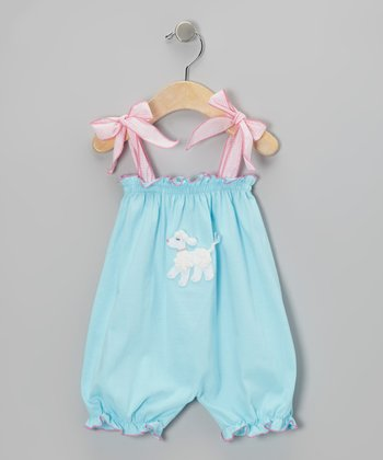 Turquoise Lamb Bubble Romper - Infant