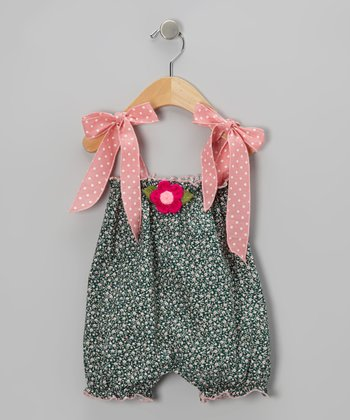 Pink Floral Bubble Romper - Infant