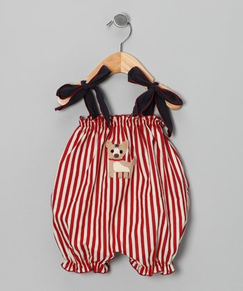 Red Stripe Bubble Romper - Infant