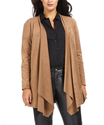 Beige Alicante Open Cardigan - Plus