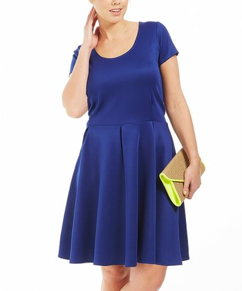 Blue Brook A-Line Dress - Plus