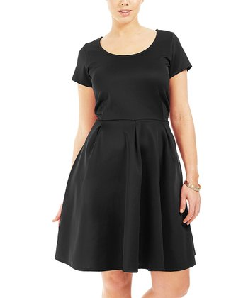 Noir Brook A-Line Dress - Plus