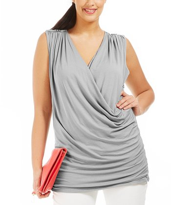 Gray Carrey Sleeveless Top - Plus