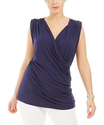 Marine Carrey Sleeveless Top - Plus