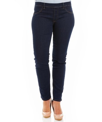 Dark Wash Deluxe Skinny Jeans - Plus