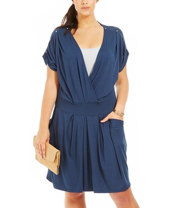 Marine Diane V-Neck Dress - Plus
