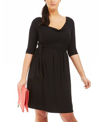 Noir Drape Dress - Plus