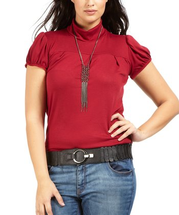 Rouge Felix Mock Neck Top - Plus