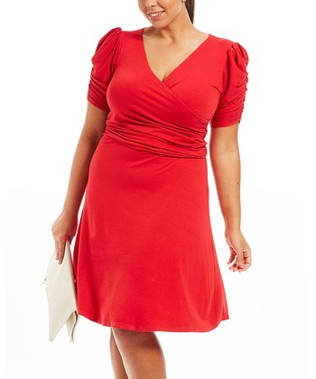 Rouge Kelly Surplice Dress - Plus