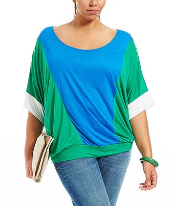 Blue Lilye Dolman Top - Plus