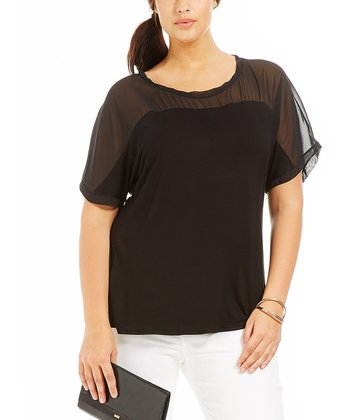 Noir Sheer Lina Top - Plus