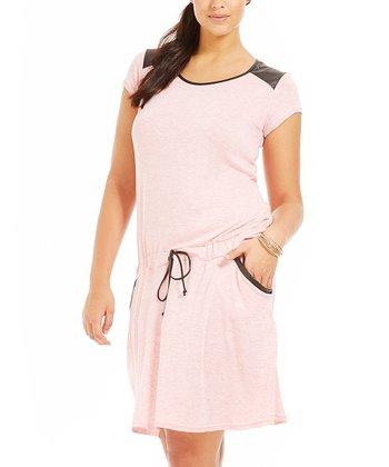 Light Pink Lizia Dress - Plus