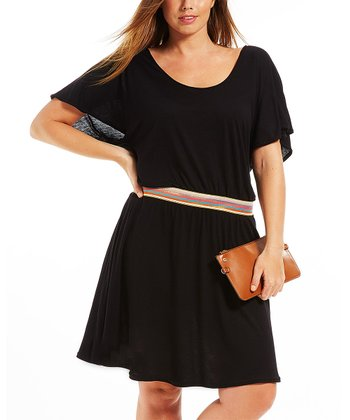 Noir Lya Belted Dress - Plus