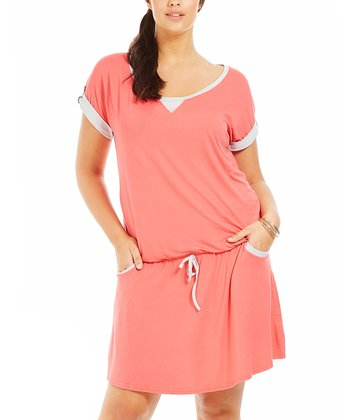 Coral Mareva Dress - Plus