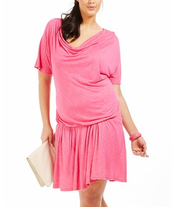 Rose Mia Drape Dress - Plus