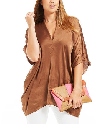 Camel Nikita V-Neck Tunic - Plus