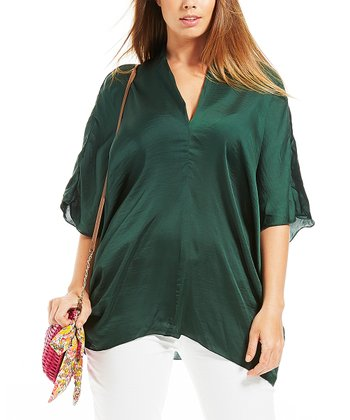 Green Nikita V-Neck Tunic - Plus