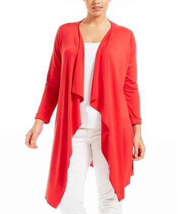 Rouge Poline Open Cardigan - Plus