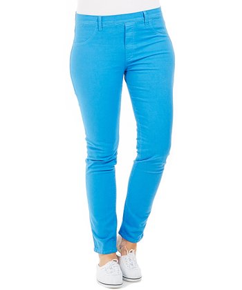Blue Stretch Skinny Pants - Plus