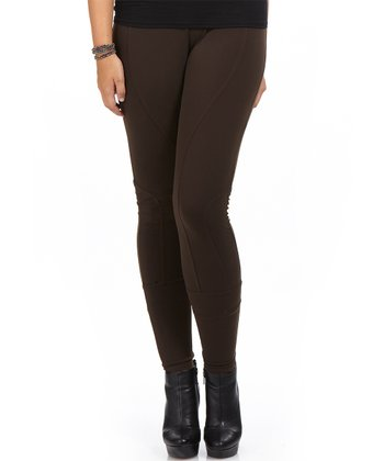 Chocolate West Leggings - Plus