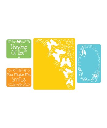 Butterfly Migration Textured Impressions Embossing Folder Set