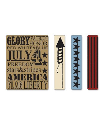 Americana Textured Impressions Embossing Folder Set