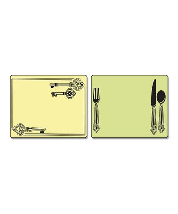 Place Setting & Keys Textured Impressions Embossing Folder Set