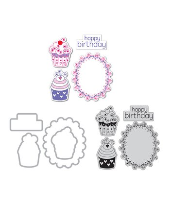 Happy Birthday Cupcakes Framelits Die Set