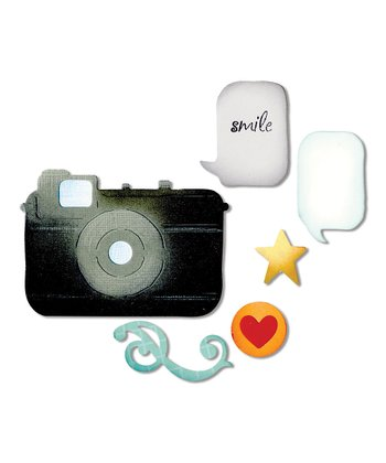 Retro Camera & Icons Thinlits Die Set