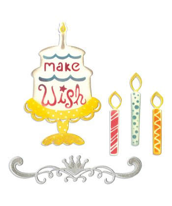 Birthday Candles, Cake & Crown Thinlits Die Set