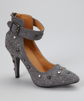Gray Embellished Freya Pump