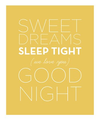 Gold 'Sweet Dreams' Wall Sign
