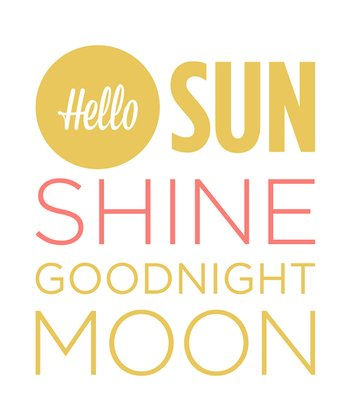 White 'Hello Sunshine' Wall Sign