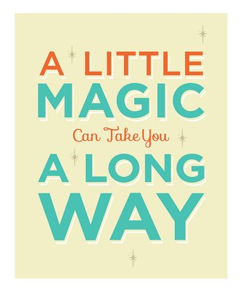 'Little Magic' Wall Sign