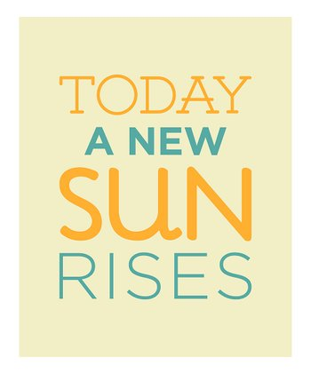'A New Sun' Wall Sign