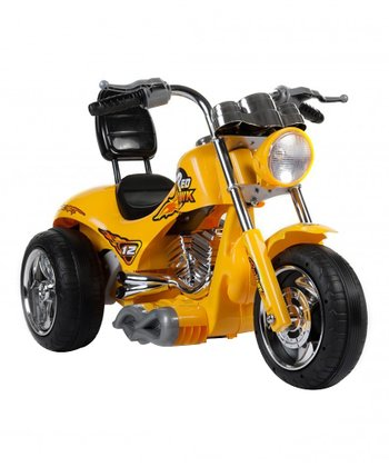 Yellow Mini Motos Red Hawk Motorcycle Ride-On