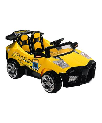 Yellow Mini Motos Super Car Ride-On