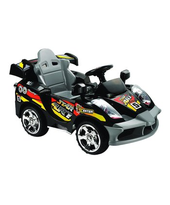 Black Mini Motos Star Remote Control Car Ride-On