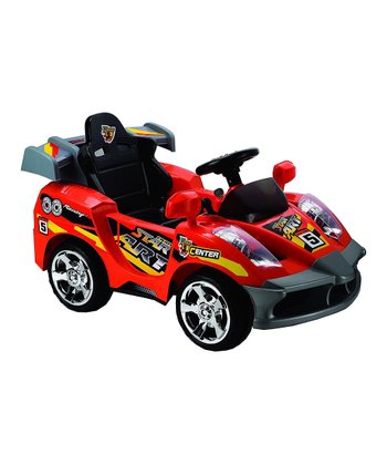 Red Mini Motos Star Remote Control Car Ride-On