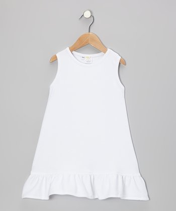 White Knit Ruffle Dress - Infant, Toddler & Girls